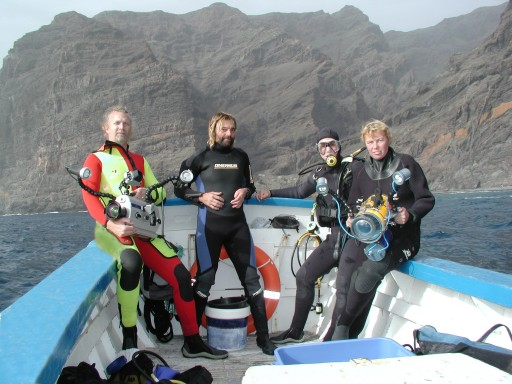 Underwater film and video production crew, tenerife